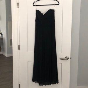 100% Silk, Sz 10 Shoshanna Black, Evening Gown